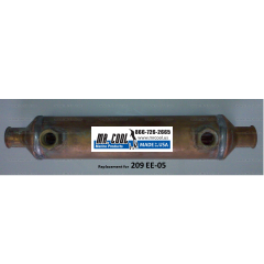 MRC 209 EE-05C -- 2x9 STANDARD OIL COOLER, COPPER 3/8'' HOSE for the water connection
