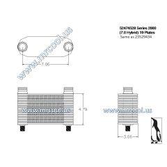 23529434 MTU Detroit Diesel Plate Cooler