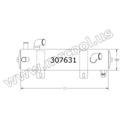 307631 Kohler Heat Exchanger