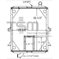 0706254A028 PETERBILT Radiator