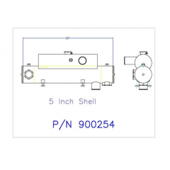 850 NT Cummins Heat Exchanger