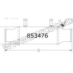 853476 Mercruiser Power Steering Cooler