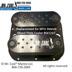 8547237 MTU Detroit Diesel Plate Cooler