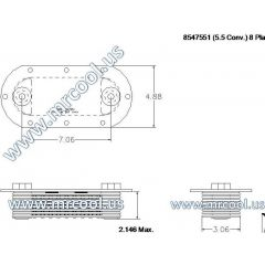 8547551 MTU Detroit Diesel Plate Cooler