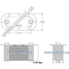 8547556 MTU Detroit Diesel Plate Cooler