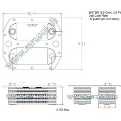 8547561 MTU Detroit Diesel Plate Cooler