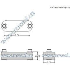 8547598-08 MTU Detroit Diesel Plate Cooler