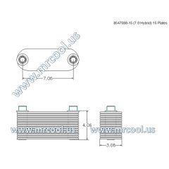 8547598-15 MTU Detroit Diesel Plate Cooler