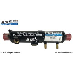 89690T Mercruiser Tandem Oil Cooler