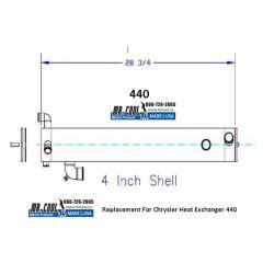 440 Chrysler  Heat Exchanger