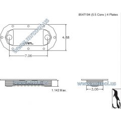 8547194 MTU Detroit Diesel Plate Cooler