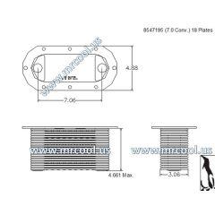 8547195 MTU Detroit Diesel Plate Cooler
