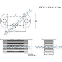 8547547 MTU Detroit Diesel Plate Cooler