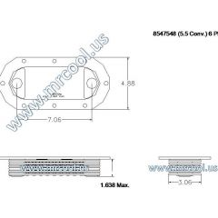 8547548 MTU Detroit Diesel Plate Cooler