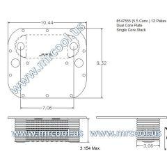 8547555 MTU Detroit Diesel Plate Cooler