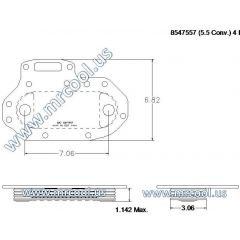 8547557 MTU Detroit Diesel Plate Cooler