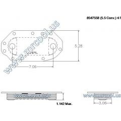 8547558 MTU Detroit Diesel Plate Cooler