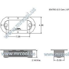 8547563 MTU Detroit Diesel Plate Cooler