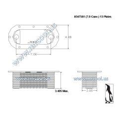 8547581 MTU Detroit Diesel Plate Cooler