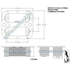 2930012774965 MTU Detroit Diesel Plate Cooler