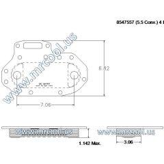 4420003719992 MTU Detroit Diesel Plate Cooler