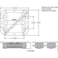 4420013303177 MTU Detroit Diesel Plate Cooler