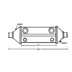 NA001314 Perkins Dual Oil Cooler