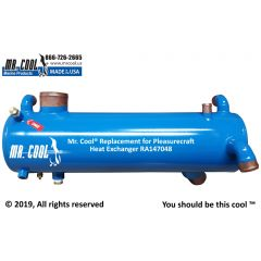 RA147048 Pleasurecraft Heat Exchanger